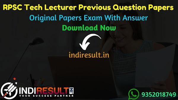 RPSC Technical Lecturer Previous Question Papers – Download RPSC Technical Lecturer Previous Year Question Papers Pdf & RPSC Technical Lecturer Old Paper.