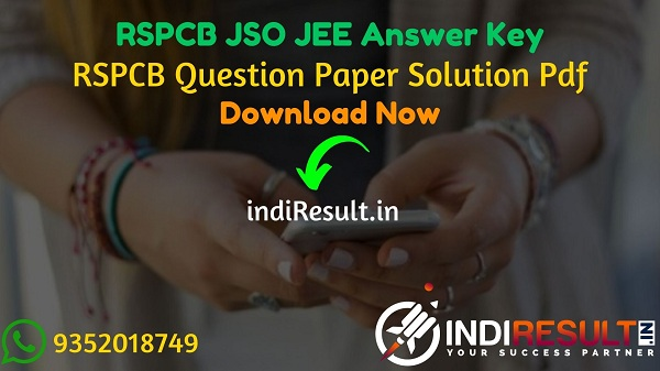 RSPCB JSO JEE Answer Key 2021 - Rajasthan RSPCB JEE JSO Answer Key pdf & RSPCB Answer Key will be published on website environment.rajasthan.gov.in
