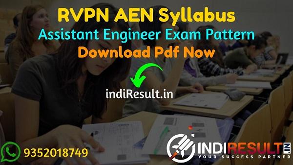 RVPN AEN Syllabus 2021 - RVPNL AESyllabus pdf Download & RVPN Assistant Engineer Civil, Electrical, Electronics, Mechanical Syllabus & Exam Pattern,