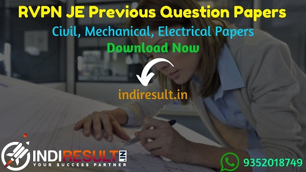 RVPN JE Previous Question Papers - Download RVPNL JEN Previous Year Question Papers pdf. RVPN Junior Engineer Civil, Mechanical, Electrical Question paper