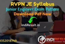 RVPN JE Syllabus 2021 - RVPNL JEN Syllabus pdf Download & RVPN Junior Engineer Civil, Electrical, Electronics, Mechanical Syllabus & Exam Pattern in Hindi.