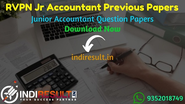 RVPN Junior Accountant Previous Question Papers - Download RVPNL Junior Accountant Previous Year Question Papers pdf. Get RVPN Jr Accountant Question paper