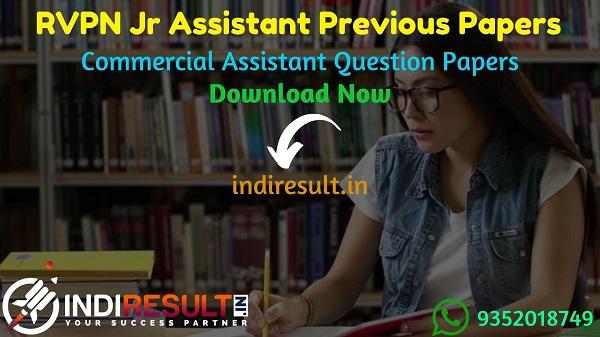 RVPN Junior Assistant Previous Question Papers - Download RVPNL Junior Assistant Previous Year Question Papers pdf. Get RVPN JAQuestion paper old Papers.
