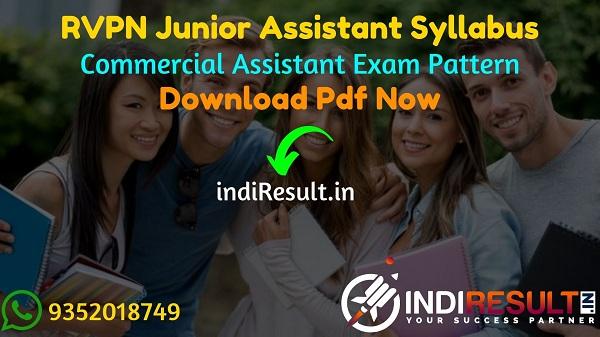 RVPN Junior Assistant Syllabus 2021 - RVPNL Junior Assistant/Commercial Assistant Syllabus pdf Download & RVPN JA Syllabus Exam Pattern Download Pdf