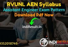 RVUNL AEN Syllabus 2021 - RVUNL AE Syllabus pdf Download & RVUNL Assistant Engineer Civil, Electrical, Electronics, Mechanical Syllabus & Exam Pattern,