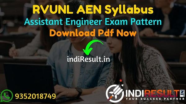 RVUNL AEN Syllabus 2021 - RVUNL AESyllabus pdf Download & RVUNL Assistant Engineer Civil, Electrical, Electronics, Mechanical Syllabus & Exam Pattern,