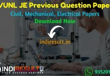 RVUNL JE Previous Question Papers - Download RVUNL JEN Previous Year Question Papers pdf. RVUNL Junior Engineer Civil, Mechanical, Electrical Question paper