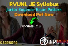 RVUNL JE Syllabus 2021 - RVUNL JEN Syllabus pdf Download & RVUNL Junior Engineer Civil, Electrical, Electronics, Mechanical Syllabus & Exam Pattern in Hindi