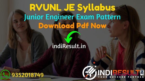 RVUNL JE Syllabus 2021 - RVUNL JEN Syllabus pdf Download & RVUNL Junior Engineer Civil, Electrical, Electronics, Mechanical Syllabus & Exam Pattern in Hindi