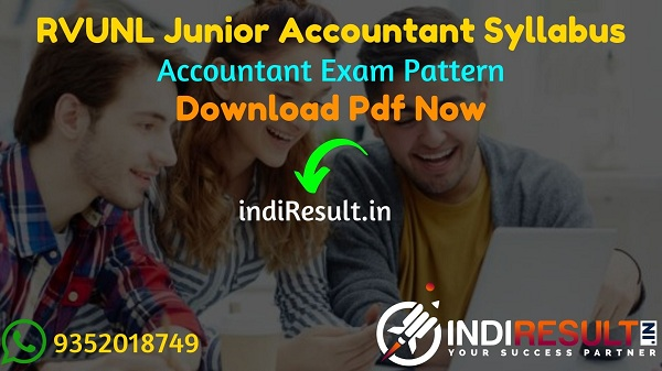 RVUNL Junior Accountant Syllabus 2021 - RVUNL Rajasthan Junior Accountant Syllabus pdf Download & JVVNL AVVNL JDVVNL Jr Accountant Syllabus & Exam Pattern.