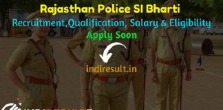 Rajasthan Police SI Bharti 2021 - Apply Rajasthan Police SI Recruitment, Rajasthan SI Vacancy Notification,Rajasthan Sub Inspector Recruitment Eligibility.