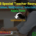 TN TRB Special Teacher Recruitment 2021 - Apply TN TRB 1598 Special Teacher Vacancy Notification, TRB Special Teacher Eligibility, Age Limit, Salary.
