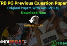 TRB PG Previous Question Papers - Download TN PG TRB Question Paper pdf with answer, TRB TN PG Assistant Old Papers, TRB Question Paper,TRB Previous Papers