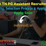 TN TRB PG Assistant Recruitment 2021 - Apply TRB 2098 PG Assistant Vacancy Notification, TRB PG Eligibility Criteria, Age Limit, TN TRB PG Salary, Date.