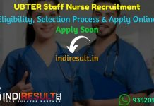 UBTER Staff Nurse Recruitment 2021 - Apply UBTER 2621 Staff Nurse Vacancy Notification, Eligibility Criteria, Age Limit, Salary, Qualification, Last Date.