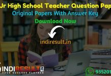 UP Aided Junior High School Teacher Previous Question Papers - Download UP Assistant Teacher Previous Papers Pdf & UP Aided Junior High School Old Paper pdf