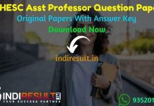 UPHESC Assistant Professor Previous Question Papers - Download UPHESC Assistant Professor Previous Year Papers pdf. Get UP Professor Old Question Papers.