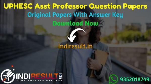 UPHESC Assistant Professor Previous Question Papers - Download UPHESC Assistant Professor Previous Year Papers pdf. Get UP Professor Old Question Papers.