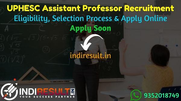 UPHESC Assistant Professor Recruitment 2021 - UPHESC 2003 Assistant Professor Vacancy Notification, UP Assistant Professor Eligibility Criteria, Salary,Fee.