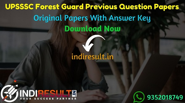 UPSSSC Forest Guard Previous Question Papers -Download UP Forest Guard Old papers in hindi pdf,UPSSSC Forest Guard Previous Year Question Papers Model Paper
