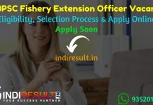 WBPSC Fishery Extension Officer Recruitment 2021 - Apply WBPSC Fishery Extension Officer Vacancy Notification,WBPSC FEO Eligibility Criteria, Age, Salary.