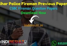 Bihar Police Fireman Previous Question Papers - Download Bihar Police Fireman Previous Year Question Papers pdf. Get Bihar Police Fireman Old Question Paper