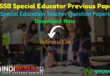 DSSSB Special Educator Previous Question Papers - Download DSSSB Special Education Teacher Previous Year Question Papers pdf. Special Teacher Question paper