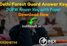 Delhi Forest Guard Answer Key 2021 - Download DOFW Forest Guard Delhi Answer Key pdf & forest.delhigovt.nic.in Forest Guard Answer Key with Question Paper.