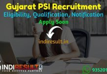 Gujarat PSI Recruitment 2021 - Apply Gujarat Police 1382 PSI, ASI & Intelligence Officer Vacancy Notification, PSI Gujarat Eligibility, Salary ,Age Limit.