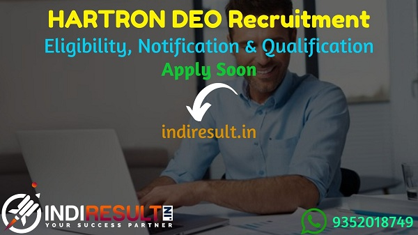 HARTRON DEO Recruitment 2021 - Haryana State Electronics Development Corporation Limited released HARTRON 310 Data Entry Operator Vacancy Notification,