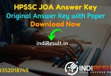 HPSSC JOA Answer Key 2021 - Download HPSSSB JOA Answer Key pdf. Get official answer key of HPSSC JOA exam & HP JOA IT Paper Solution www.hpsssb.hp.gov.in