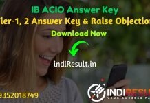IB ACIO Answer Key 2021 - Intelligence Bureau IB Released Answer Key of ACIO Exam & IB ACIO Tier 1 Answer Key available on official website mha.gov.in.