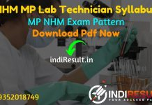 NHM MP Lab Technician Syllabus 2021 - Download MP NHM Lab Technician Syllabus pdf in Hindi/English & NHM MP Lab Technician Exam Pattern,MP Lab Tech Syllabus