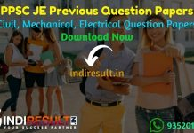 PPSC JE Previous Question Papers - Download PPSC JE Civil, Mechanical, Electrical Previous Year Papers Pdf, PPSC JE Old Paper. Get PPSC JE Question Papers.