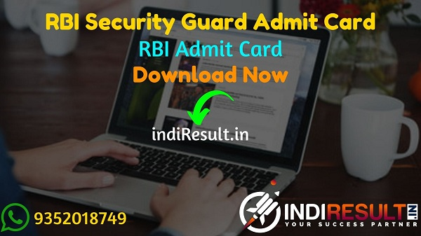 RBI Security Guard Admit Card 2021 - Download RBI Security Guard 2021 Admit Card. As Per RBI Notification RBI Security Guard New Exam Date is March 2021.
