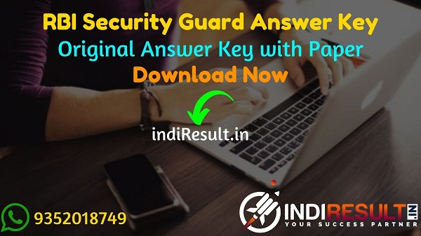 RBI Security Guard Answer Key 2021 - Download RBI Security Guard Solved Answer Key pdf & RBI Answer Key with Question Paper.Answer key of RBI Security Guard