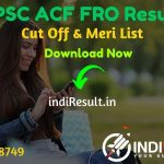 RPSC ACF FRO Result 2021 - Download Rajasthan RPSC Forest Range Officer ACF Result, Cut off & Merit List 2021.Result Date Of RPSC ACF FRO Exam is March 2021