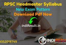 RPSC Headmaster Syllabus 2021 : Download RPSC Headmaster 2021 Syllabus pdf in Hindi & RPSC HM Exam Pattern pdf. Syllabus of RPSC Headmaster Exam 2021.