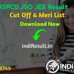 RSPCB JSO JEE Result 2021 - Download Rajasthan RSPCB JEE JSO Result, Cut off & Merit List 2021. The Result Date Of RSPCB JSO JEE Exam is 19 March 2021.
