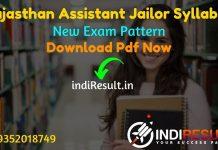 Rajasthan Assistant Jailor Syllabus 2021 – Download RSMSSB Assistant Jailor Syllabus Pdf in Hindi & Assistant Jailor Exam Pattern. Syllabus Assistant Jailor
