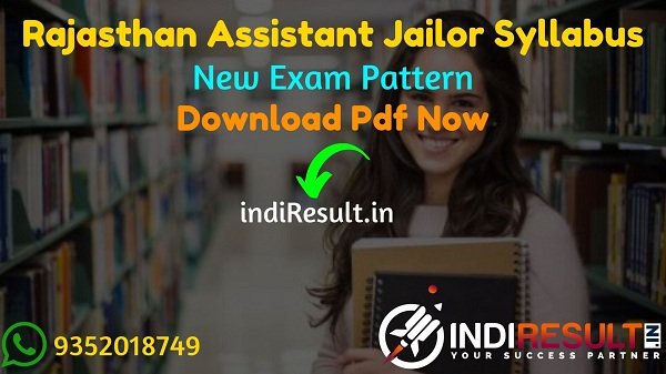 Rajasthan Assistant Jailor Syllabus 2021 – Download RSMSSB Assistant Jailor Syllabus Pdf in Hindi & Assistant Jailor Exam Pattern. Syllabus Assistant Jailor