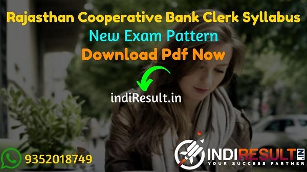 Rajasthan Cooperative Bank Clerk Syllabus 2021 - Download Rajcrb Rajasthan Cooperative Bank Junior Assistant Syllabus pdf in Hindi & RSCB Clerk Exam Pattern