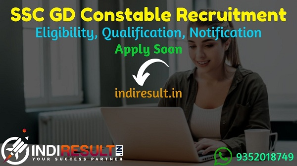 SSC GD Constable Recruitment 2021 - Apply online SSC GD Vacancy 2021 Notification, GD Constable Eligibility, Salary, Last Date, Age Limit, Qualification.