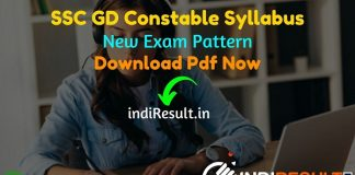 SSC GD Syllabus 2021 – Download SSC GD Constable Syllabus pdf in Hindi/English & SSC GD Exam Pattern. Get SSC GD Exam Syllabus in Hindi Pdf Free.