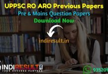 UPPSC RO ARO Previous Question Papers - Download UP RO ARO Previous Year Papers Pdf, UPPSC RO ARO Old Paper, Get UPPSC RO ARO Question Papers pdf in hindi,