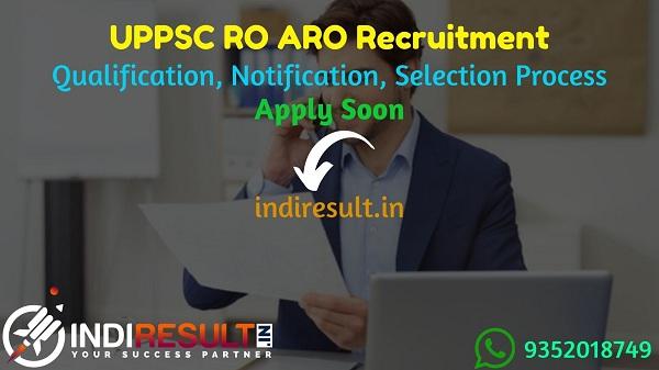 UPPSC RO ARO Recruitment 2021 - Apply UPPSC Uttar Pradesh 337 RO ARO Vacancy Notification, UPPSC RO ARO Eligibility Criteria, Salary,Age Limit,Qualification