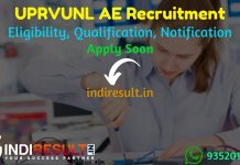 UPRVUNL AE Recruitment 2021 - Apply UPRVUNL 196 Assistant Engineer Vacancy, Notification, Eligibility Criteria, Age Limit, Salary, Qualification, Last Date.