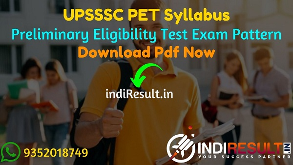 UPSSSC PET Syllabus 2021 - Download UP PET Syllabus pdf in Hindi, UPSSSC Preliminary Eligibility Test Syllabus Pdf. UPSSSC PET Exam Syllabus Pdf in Hindi