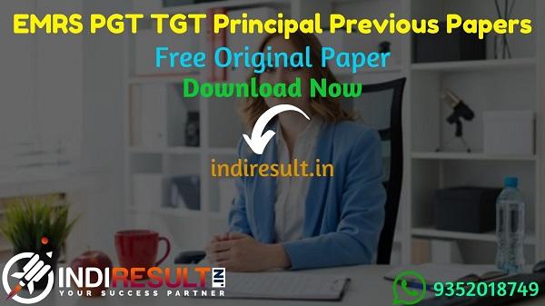 EMRS PGT TGT Principal Previous Question Papers - Download EMRS PGT TGT Principal Previous Year Question Papers pdf & EMRS PGT TGT Principal Question Paper.