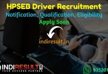 HPSEB Driver Recruitment 2021 - Apply HPSEB 50 Driver Vacancy Notification, Eligibility Criteria, Salary, Age Limit, Educational Qualification, Last Date.